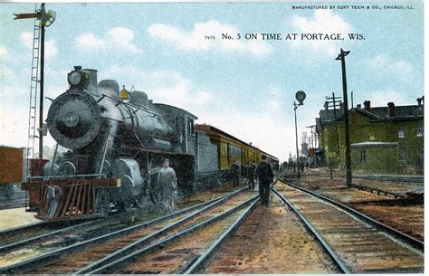 the national railroad postcard museum portage wisconsin