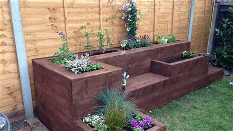 Garden Designs With Sleepers Ideas Youtube Sleepers Garden Ideas