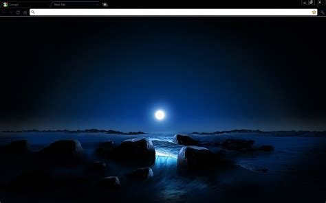 chrome night theme blue space sunset chrome theme thee pupil