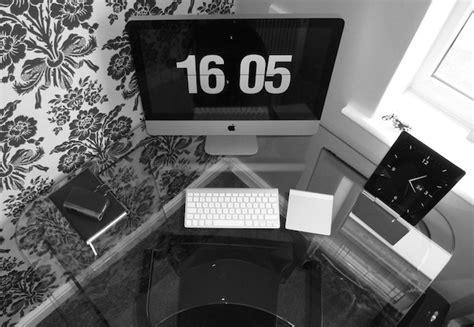 Staten Glass Corner Desk Mac Setups Minimal Imac Desk