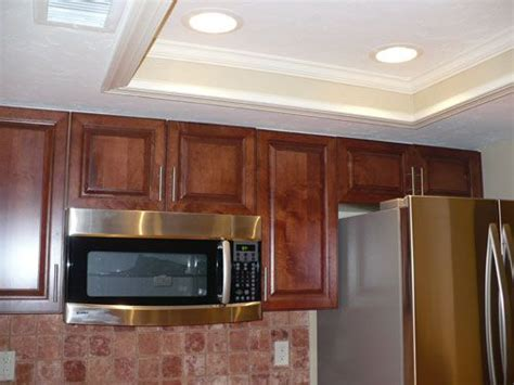 Image detail for  Kitchen tray ceiling with 4 recessed