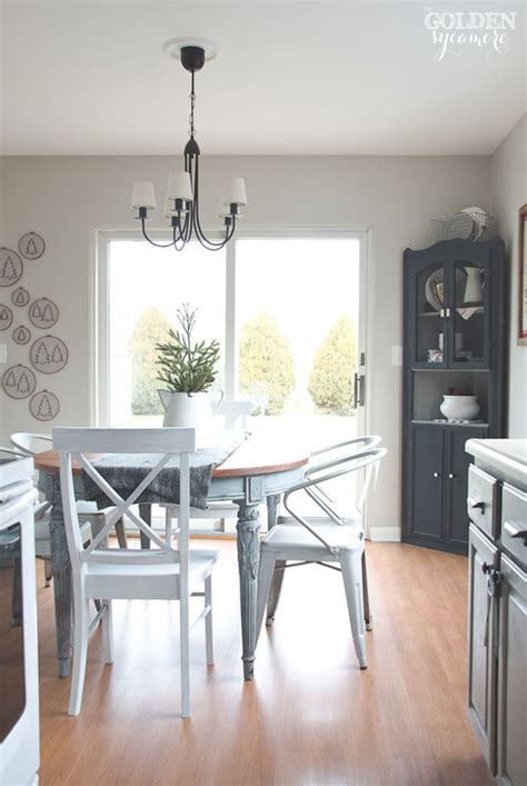 Blue Gray Cabinets Kitchen Painted Dining Table Finally The Golden Sycamore