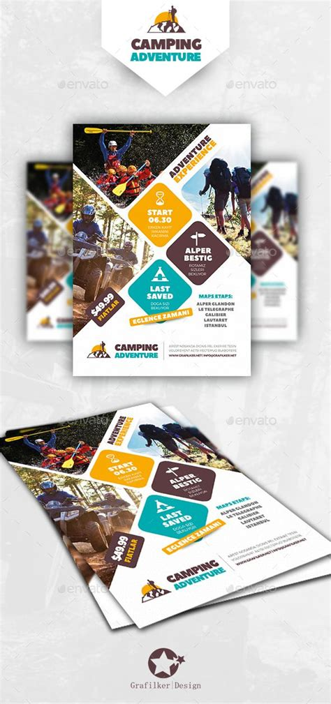 indesign poster template cing adventure flyer templates flyer template