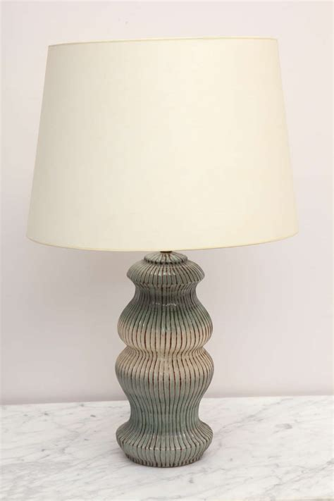 Unusual Table Lamps by Unique Herman Kleiner Ceramic Table Lamp At 1stdibs