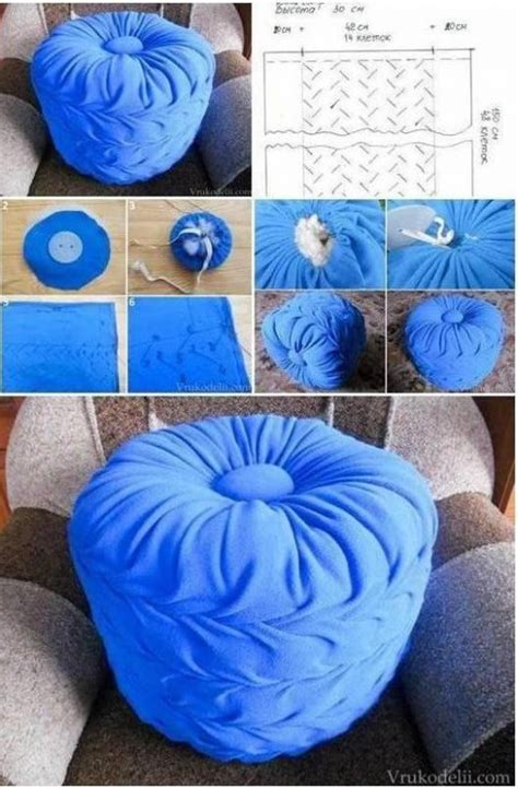 How To Puff Up Pillows by How To Make Living Room Floor Pillow Puff Step By Step Diy
