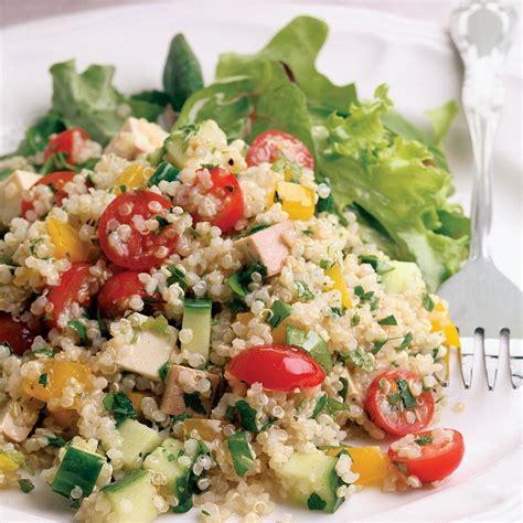healthy salad recipes quinoa smoked tofu salad recipe eatingwell