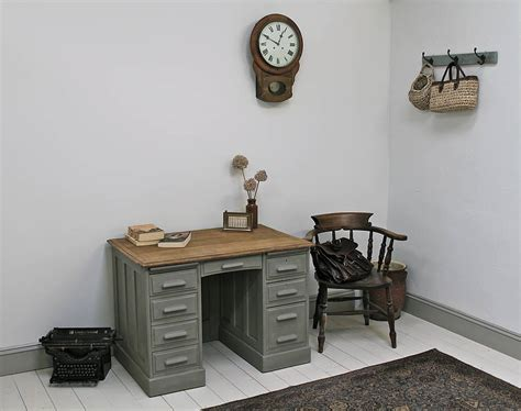 distressed office desk antique painted oak office desk by distressed but not forsaken notonthehighstreet