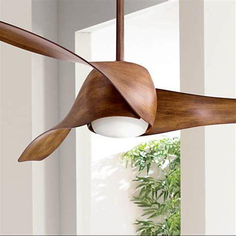 koa wood ceiling fan 58 quot artemis distressed koa led ceiling fan 19x71