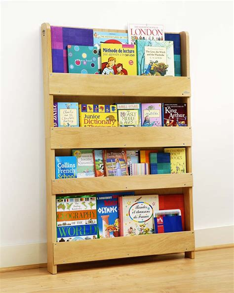 tidy books children s front facing bookcase white