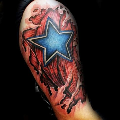 nfl tattoo designs collection of 25 ripped skin dallas cowboys team logo