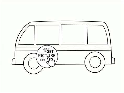 bus coloring pages preschool simple bus coloring page for preschoolers transportation