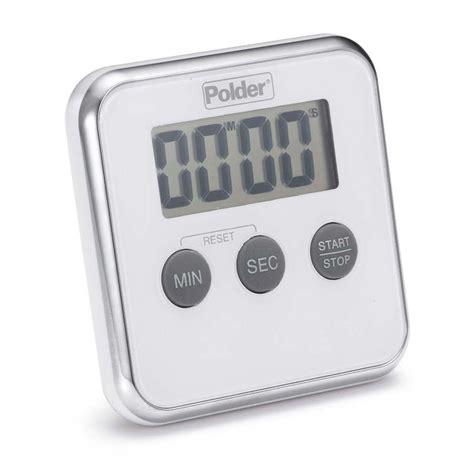 Kitchen Timer by Polder Digital Kitchen Timer White Tmr 606 90 Ebay