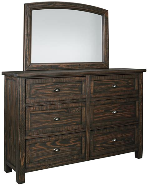 signature design by ashley holloway dresser with mirror atg stores signature design by ashley trudell solid pinewood dresser