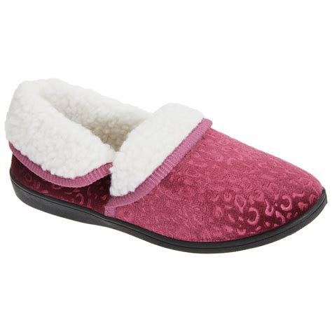 moccasin style slippers womens patterned fleece lined moccasin style