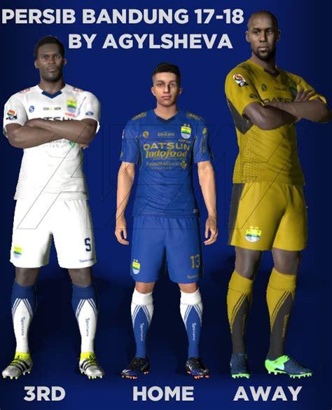 desain jersey persib terbaru pes 2017 persib bandung 2017 18 kits v1 by agylsheva pes