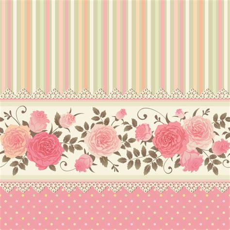 wallpaper pattern pink rose pink rose pattern background vector material 05 vector