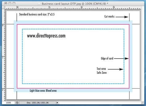 How To Set Up A Business Card Template In Indesign by Business Card Printing Direct To Press Inc San Diego Ca