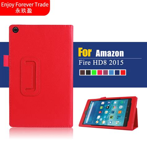 Hd 8 Tablet Generation for new kindle hd 8 hd8 2015 generation tablet cases high quality 2 fold litchi pu