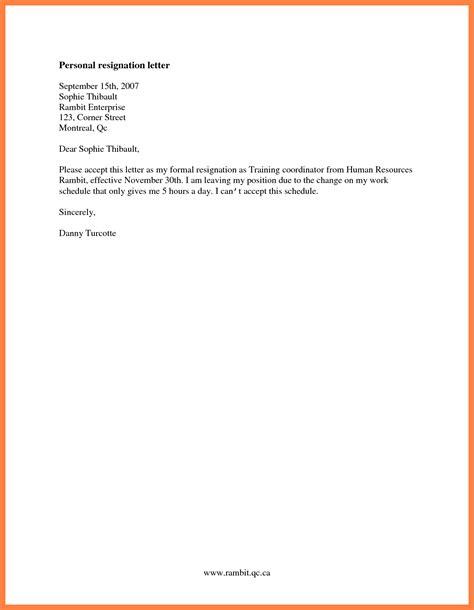 resignation letter free sle resignation letter with