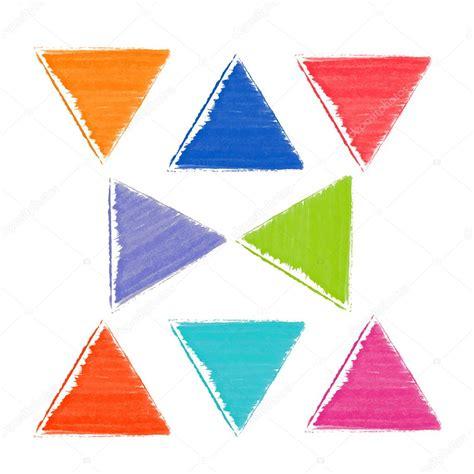 imagenes de triangulos verdes patr 243 n de colores acuarela tri 225 ngulos rojo azul verde