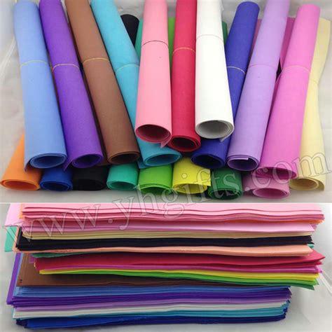 diy foam crafts 51pcs lot 17 color 1mm foam sheets sponge paper diy foam