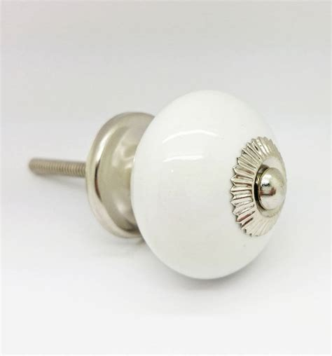 White Ceramic Drawer Pulls white ceramic cupboard door knob drawer pull handle by g