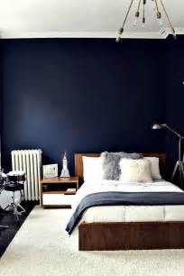 Love This Navy Blue Wall Bedroom Spaces Places
