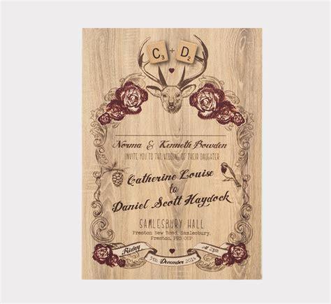 deer wedding invitations deer winter wedding invitation by something kinda