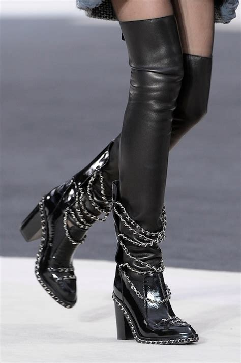 thigh high boots with chains pictures photos and images