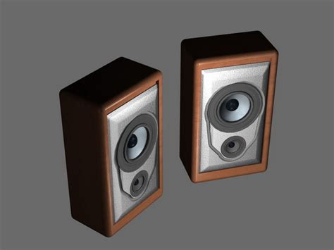 small bookshelf speakers 3d model 3d studio 3ds max files