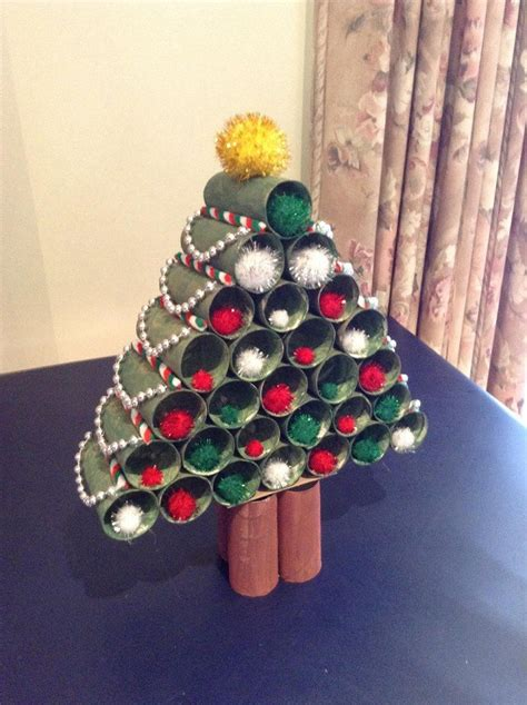 christmas tree out of toilet paper rolls christmas