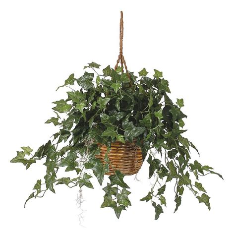hanging plant nearly natural english ivy hanging basket silk plant 6507