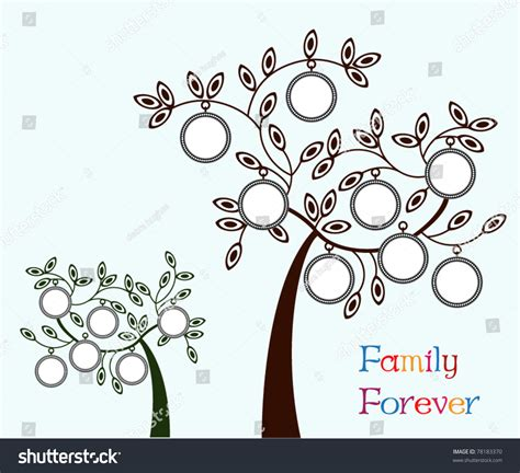 Family Tree Two Version One 6 Stock Vector 78183370 Shutterstock Family Tree Genealogy Vector Stock