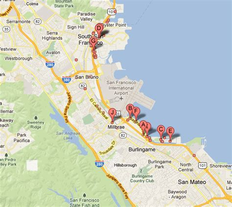 san francisco lodging map articles best hotels near san francisco airport