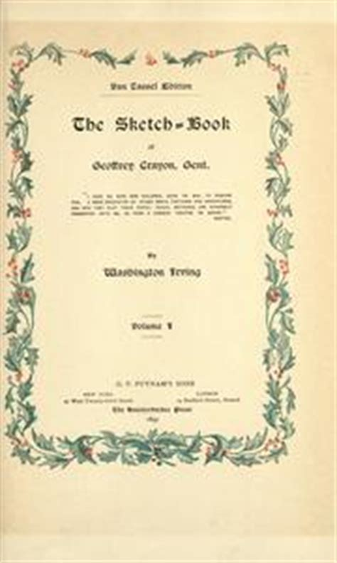 sketch book irving washington the sketch book of geoffrey crayon gent 1895 edition