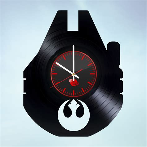 Wall Clock Handmade - wars bb8 handmade vinyl record wall clock fan gift