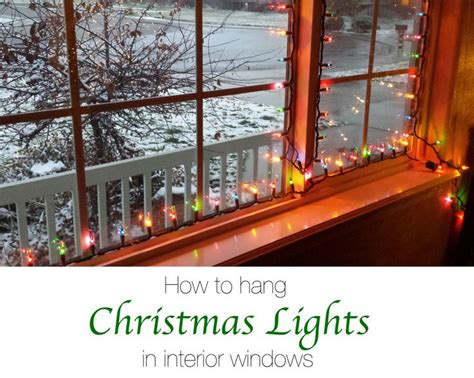 hanging christmas lights in windows easy best 25 window lights ideas on window lights window