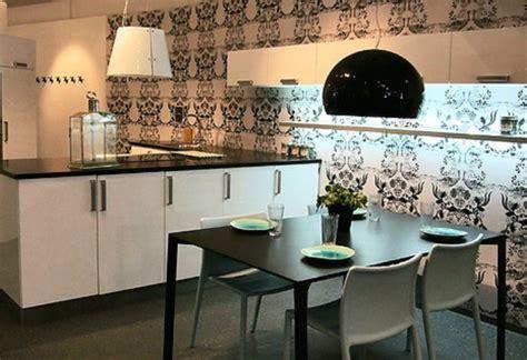 wallpaper for black and white kitchen какие моющиеся обои для кухни выбрать