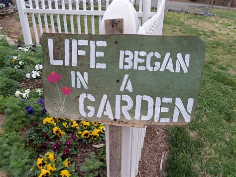 In The Garden And More Tuinbord Garden Quote Garden Sign More Gardening