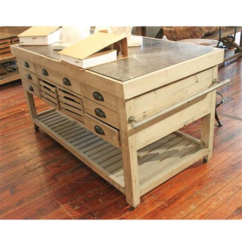 60 kitchen island belaney rustic lodge light pine wood blue stone 60 inch