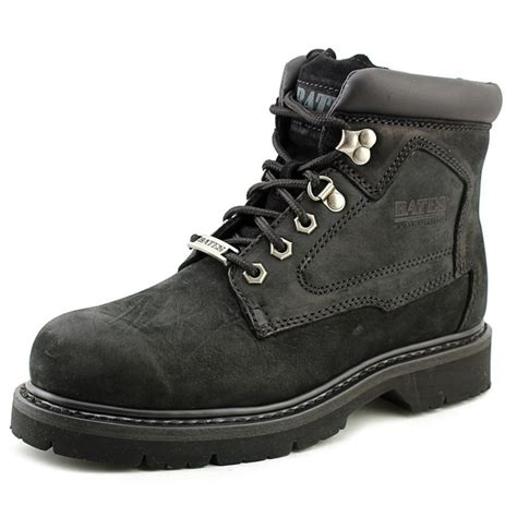 black work boots bates 6 quot lace up nubuck leather black work boot boots