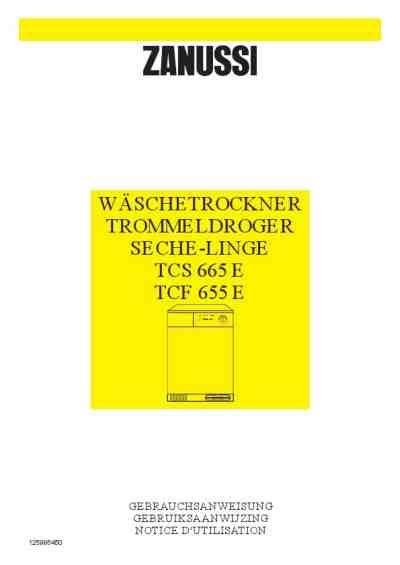 Wäschetrockner Auf Waschmaschine 2963 by Zanussi Tcs665ew 195 164 Schetrockner Handbuch In