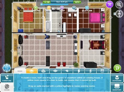 sims freeplay house designs sims freeplay house floor plans house plans