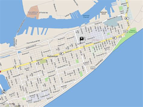 map of galveston island texas location island oktoberfest