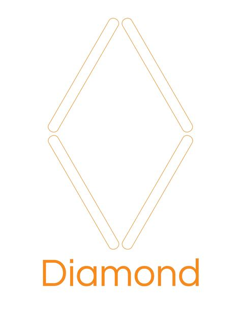 shapes printable diamond shape cutouts popsicle stick diamond template 171 preschool and homeschool
