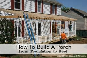 how to attach a patio roof to an existing house how to build a porch build a front porch front porch