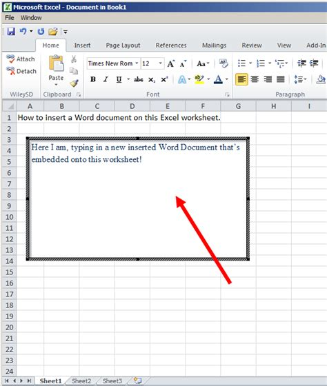 How To Make A Spreadsheet In Microsoft Word by Tom S Tutorials For Excel Inserting A Word Document Onto
