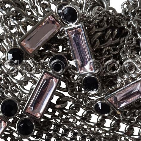 Rhinestone Multi Chain Necklace aprococo chanel dramatic stunning multi chain rhinestone