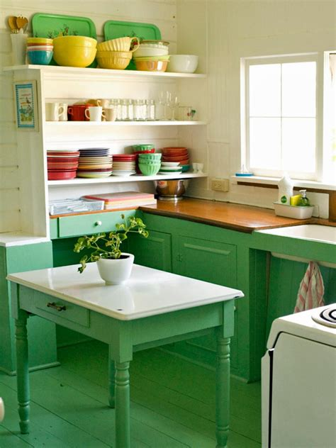 antique green kitchen cabinets colorful coastal design hgtv