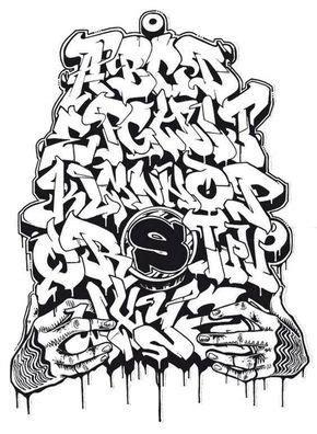 dibujar abecedario  letras en graffiti  graffiti